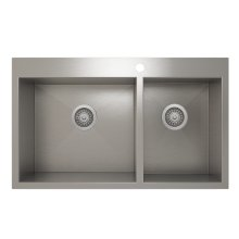 ProInox H0 60/40 Double Bowl Topmount Kitchen Sink ProInox H0 18-gauge Stainless Steel, 30'' X 16''