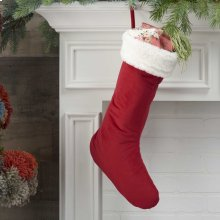 """Home for the Holiday Qy424 Red 17"""" X 10"""" Stocking"""
