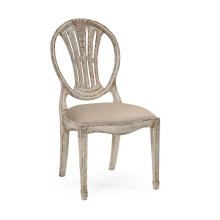 Hepplewhite wheatsheaf side chair (Grey)