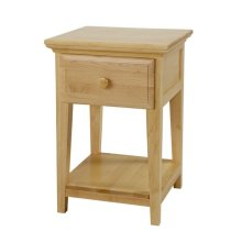 1 Drawer Night Stand with Shelf : Natural