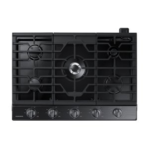 """30"""" Gas Cooktop in Black Stainless Steel Product Image"""