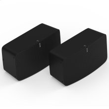 Black- A pair of high-fidelity speakers for listening in up to two rooms.