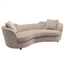 Armen Living Palisade Transitional Sofa in Sand Fabric with Brown legs