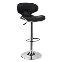 Chrome and Black PU Barstool