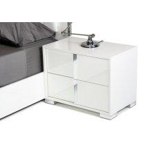 Modrest San Marino Modern White Nightstand