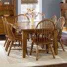 Rectangular Leg Table - Oak Product Image