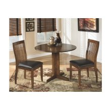 Round Drop Leaf Table with 2 Chairs