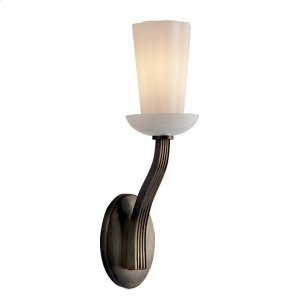 Visual Comfort BBL2032BZ-WG Barbara Barry All Aglow 1 Light 4 inch Bronze Decorative Wall Light in White Glass