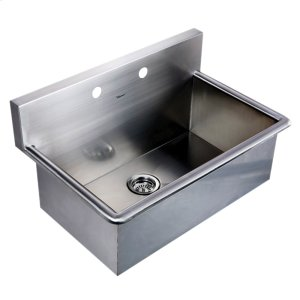 Noah's Collection Utility Series single bowl drop-in or wall mount utility sink. Product Image