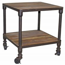Square 2-Tier End Table