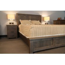 Queen Bed with Low Profile Footboard