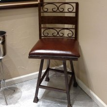 Wought Iron Barstool 1201 B