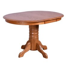 """36"""" Round Table Top With 1-12"""" Leaf"""
