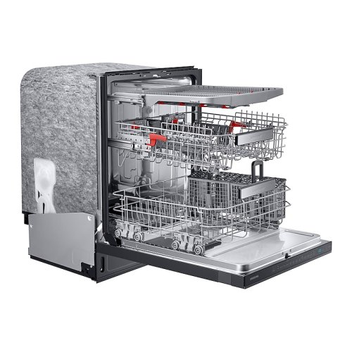 Linear Wash 39 dBA Dishwasher in Black Stainless Steel