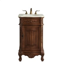 21 In. Single Bathroom Vanity Set In Teak Color