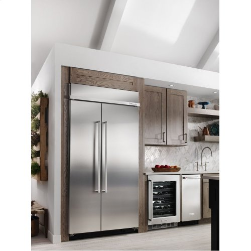 25.5 cu. ft 42-Inch Width Built-In Side by Side Refrigerator with PrintShield™ Finish - Stainless Steel