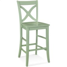 Hues Barstool with Wood Seat