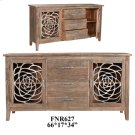 Bengal Manor Acacia Wood and Aluminum 2 Door 3 Drawer Sideboard Product Image