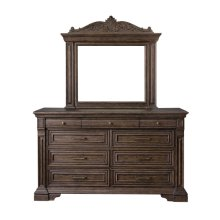 Bedford Heights Dresser Mirror in Estate Brown