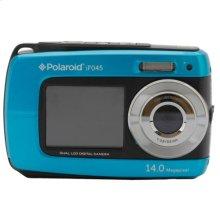 Polaroid 14-Megapixel Waterproof Dual Screen Digital Camera iF045, Blue