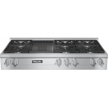 KMR 1355 G RangeTop with 6 burners and grill for versatility and performance