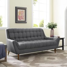Response Upholstered Fabric Loveseat in Gray