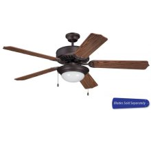 "52"" Ceiling Fan with Light (Blades Sold Separately)"
