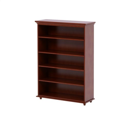 5 Shelf Bookcase w/ Crown & Base : : Chestnut :
