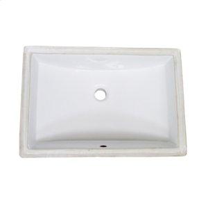 Rectangular - White Ceramic Undermount Sink Product Image