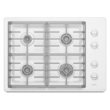 White Maytag® 30-inch Gas Cooktop with Two Power Cook Burners