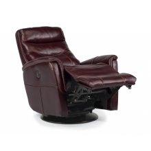 Alden Leather Queen Power Swivel Gliding Recliner