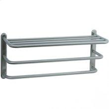 Highlands - Three Tier Towel Shelf - Unlacquered Brass
