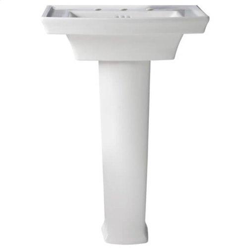 Wyatt 24 Inch Pedestal Bathroom Sink - Canvas White