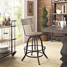 Procure Wood Bar Stool in Brown