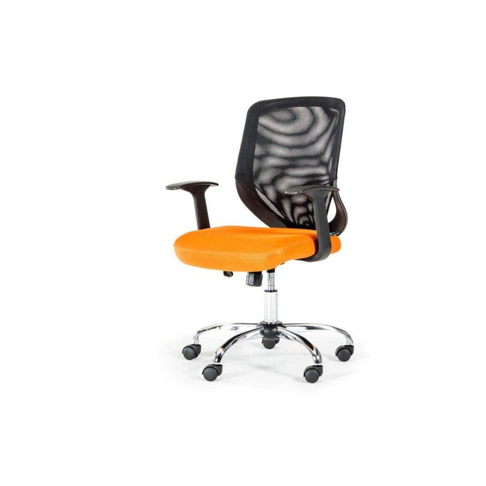 Modrest Bold Modern Black and Orange Mesh Office Chair