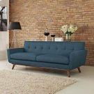 Engage Upholstered Fabric Sofa in Azure Product Image