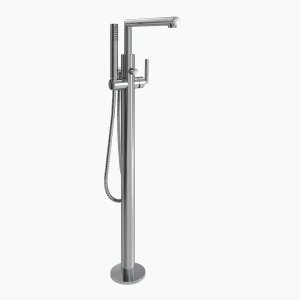 Arris chrome one-handle tub filler includes hand shower Product Image