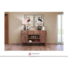"""55"""" TV-Stand w/4 Drawers, 2 Doors & 2 Shelves"""