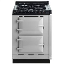"""AGA Module 24"""" Electric/Natural Gas Pearl Ashes with Stainless Steel trim"""