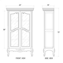 Chateau Bookcase w/ Glass