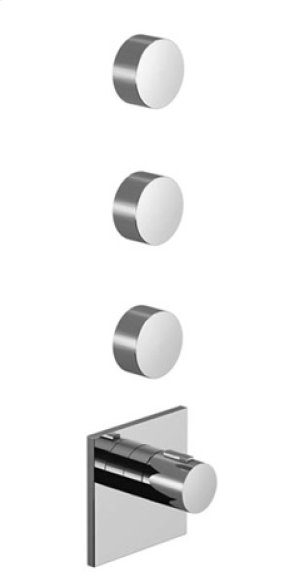 xTOOL thermostat with three volume controls - matt black Product Image