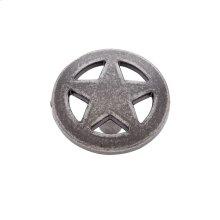 """Antique Satin Nickel 1-1/2"""" Medium Star Knob"""