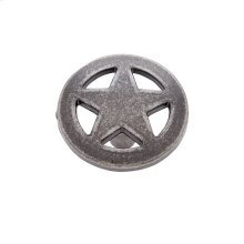 "Antique Satin Nickel 1-1/2"" Medium Star Knob"