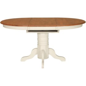 Butterfly Ext. Pedestal Table Heritage Oak & Pearl