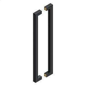 """24"""" Contemporary Pulls, Back-To-Back - Paint Black Product Image"""