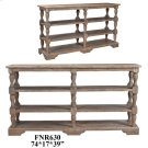 Bengal Manor Acacia Wood Turned Leg Tiered Console Product Image