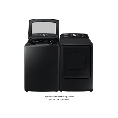 7.4 cu. ft. Gas Dryer with Steam Sanitize+ in Black Stainless Steel