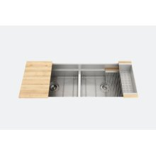 "SmartStation® 005407 - undermount stainless steel Kitchen sink , 24"" × 18 1/8"" × 10""  24"" × 18 1/8"" × 10"" (Maple)"