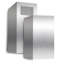 Telescoping stainless steel duct cover for ceilings up to 10 high - fits all XOS models