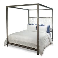Luxor Laser Design Headboard Canopy Queen Bed Product Image